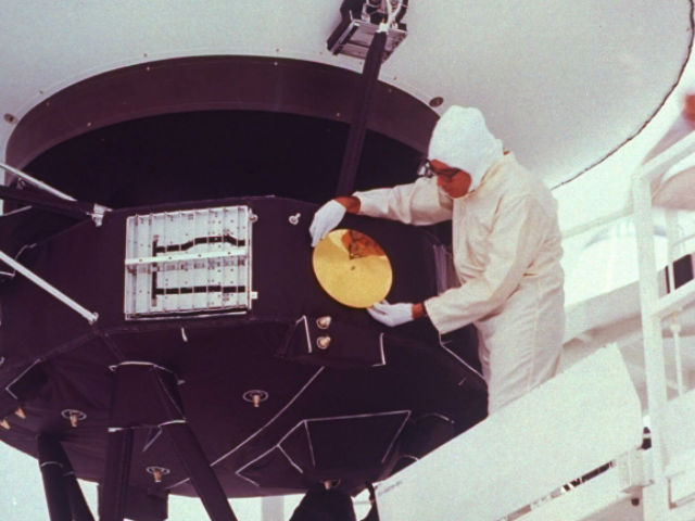 Inside Voyager in Outer Space